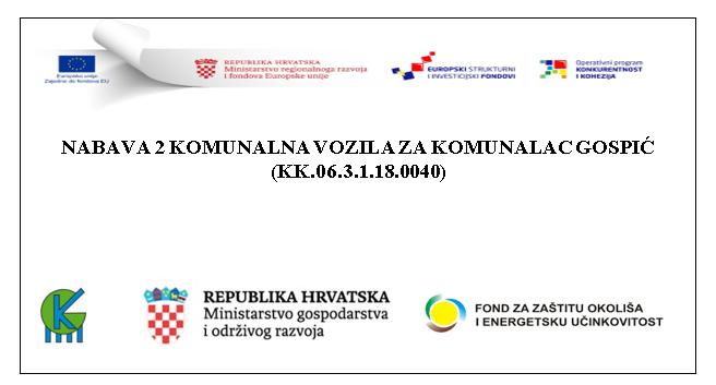 """ZAVRŠNA KONFERENCIJA EU PROJEKTA """"NABAVA 2 KOMUNALNA VOZILA ZA ODVOJENO PRIKUPLJANJE OTPADA"""""""